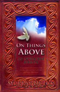 on things above book cover side copy